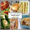 Easy Meal Plan Week #30