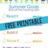 Free Summer Activities Chart
