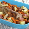 Insanely Delicious Pork Tenderloin With Root Vegetables