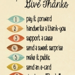 7 Ways to Give Thanks