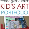 Make Your Own Kids Art Portfolio Case