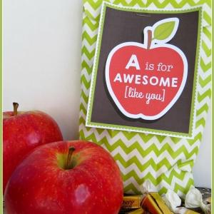 FREE Printable Apple Tag