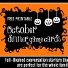 October Dinner Game Cards