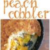 Easy Skillet Peach Cobbler Recipe