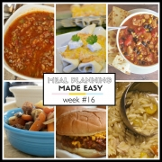 Meal Planning Made Easy Week #16