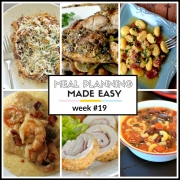 Meal Planning Made Easy Week #19