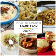 Easy Meal Plan Week #26