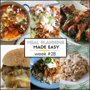 Easy Meal Plan Week #28