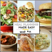 Easy Meal Plan Week #33
