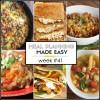 Easy Meal Plan Week #41