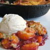 Blueberry & Peaches Skillet Cobbler
