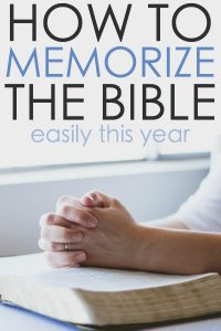 How to Memorize the Bible Easily This Year