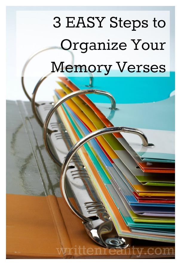 organize your memory verses