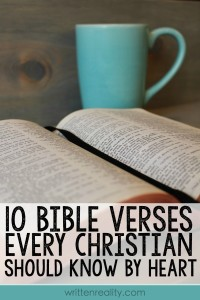 Memory Verses: 10 Bible Verses Every Christian Should Know by Heart