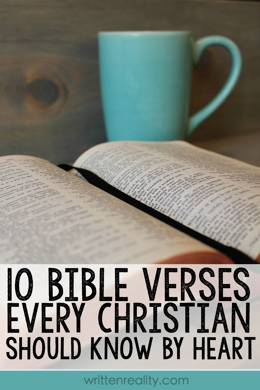 10 Bible Verses Every Christian Should Know by Heart