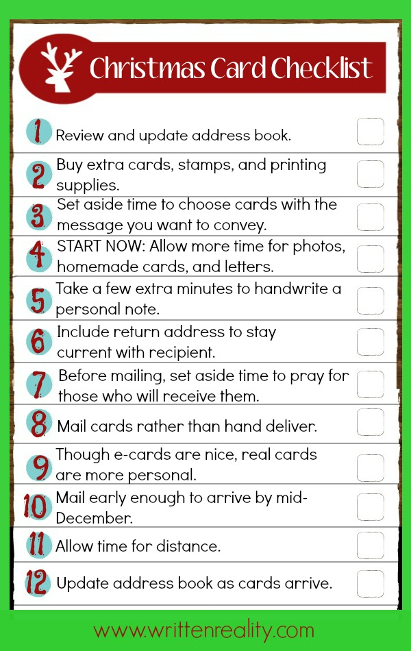christmas card checklist twice - Current Christmas Cards