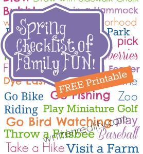 FREE printable Spring Checklist