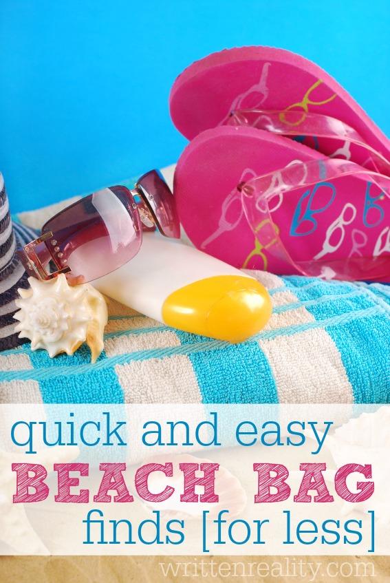 dollar store beach essentials