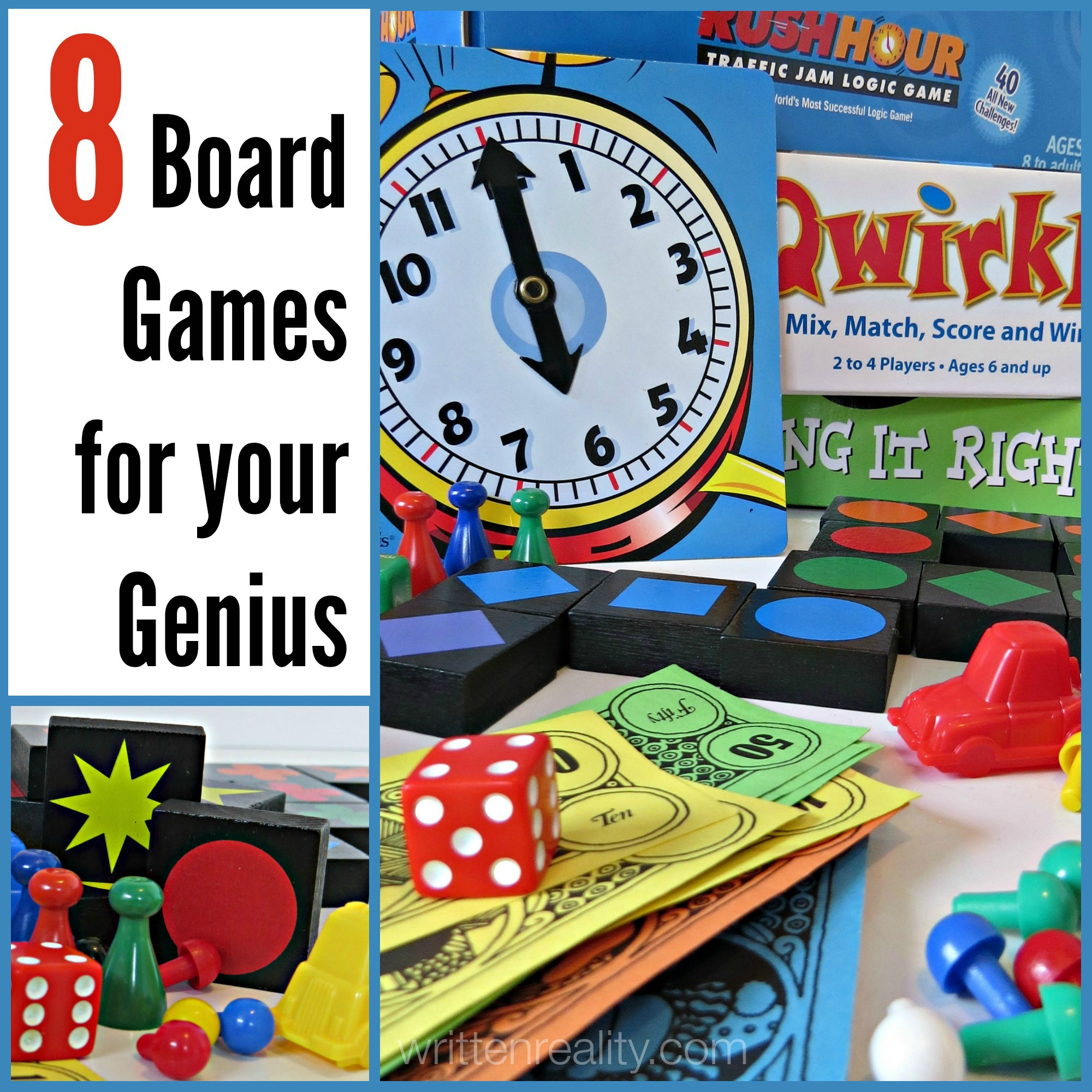 8 Board Games for Your Genius Written Reality
