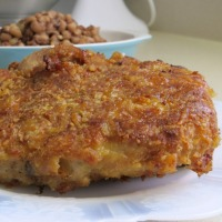 Butter Crusted Parmesan Pork Chops