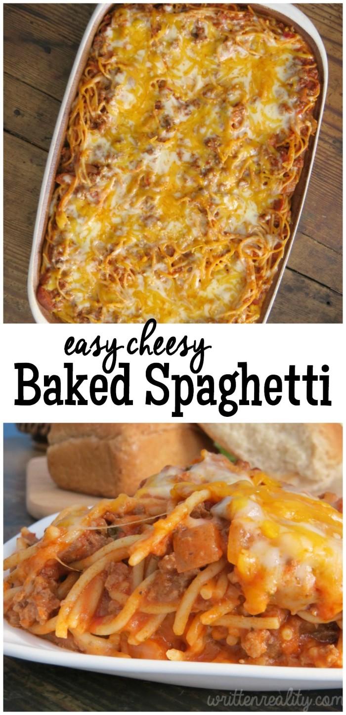 Easy Cheesy Baked Spaghetti recipe