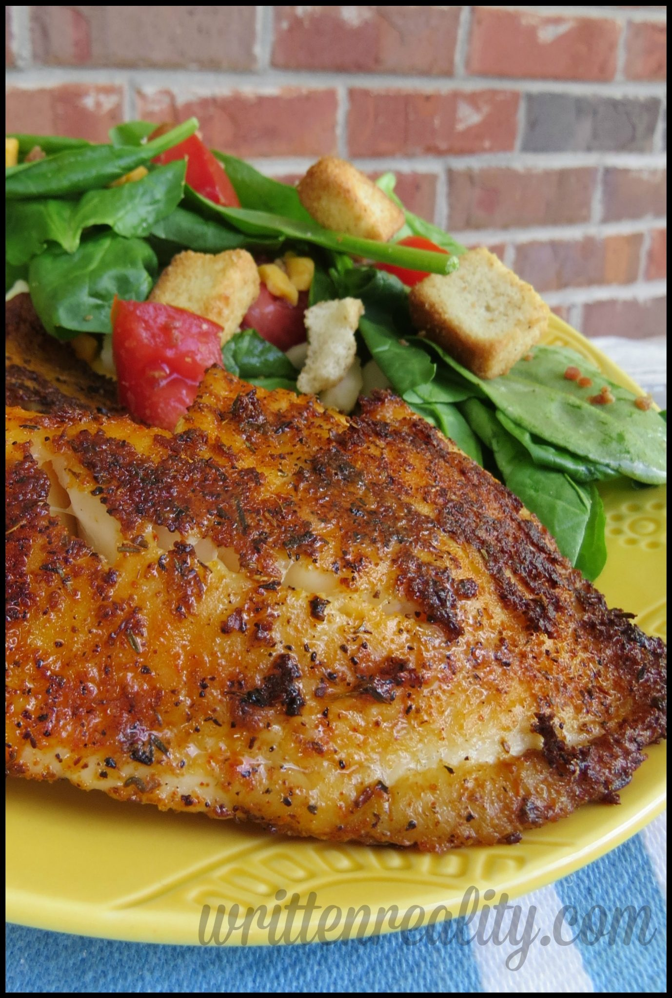 Blackened fish on the grill written reality for Blackened fish recipes