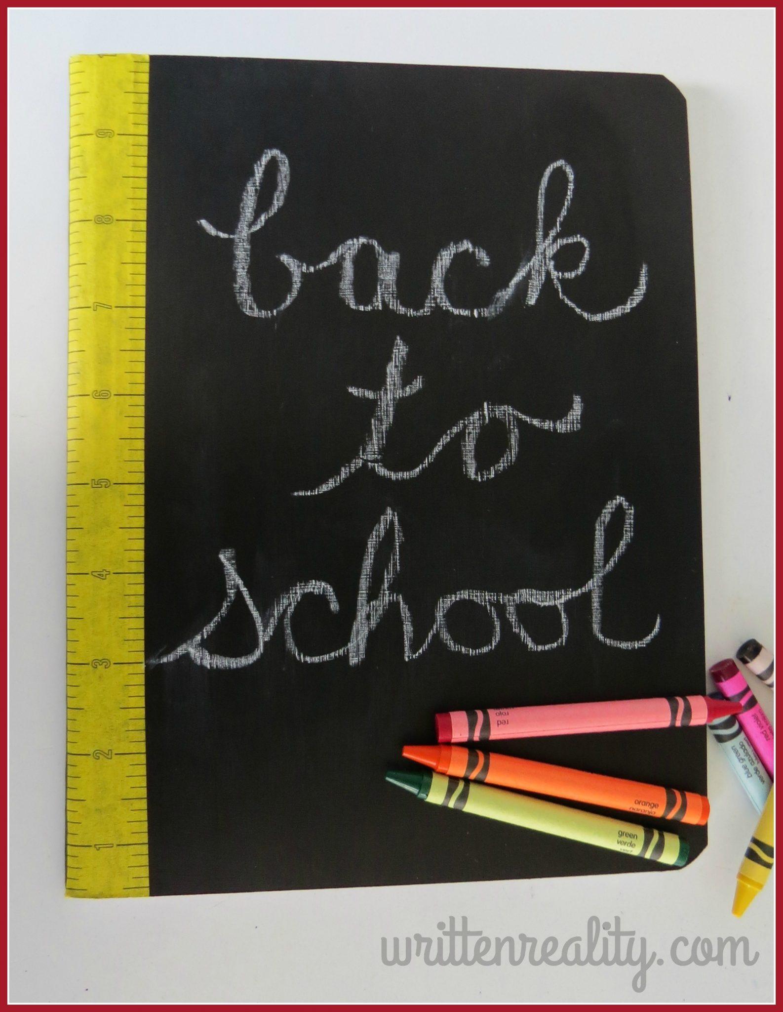 Diy chalkboard journal written reality diy chalkboard journal solutioingenieria Gallery