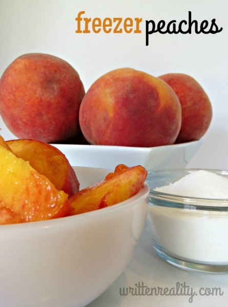 Freezer Peaches