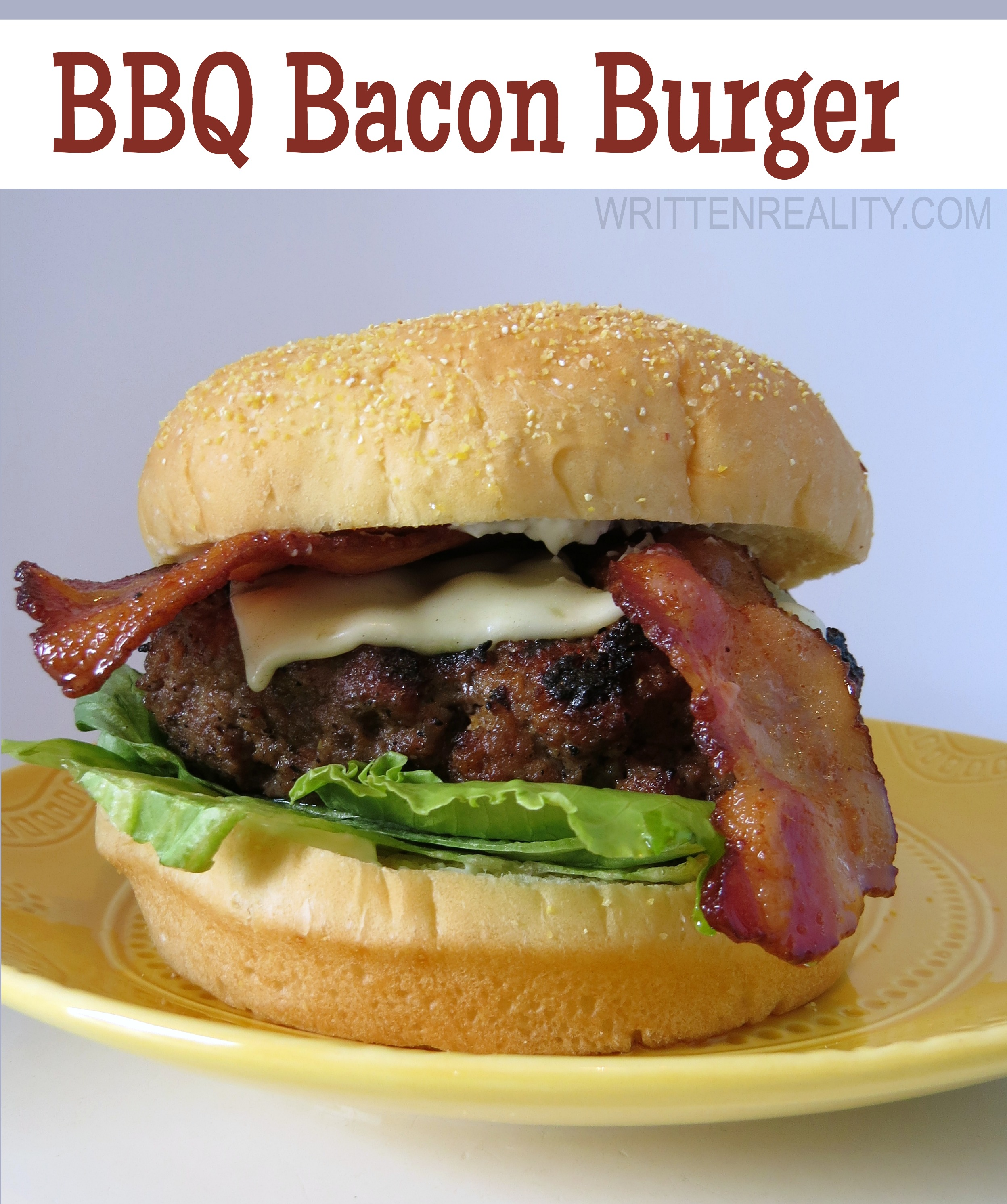 BBQ Bacon Burger Recipe Card - Written Reality