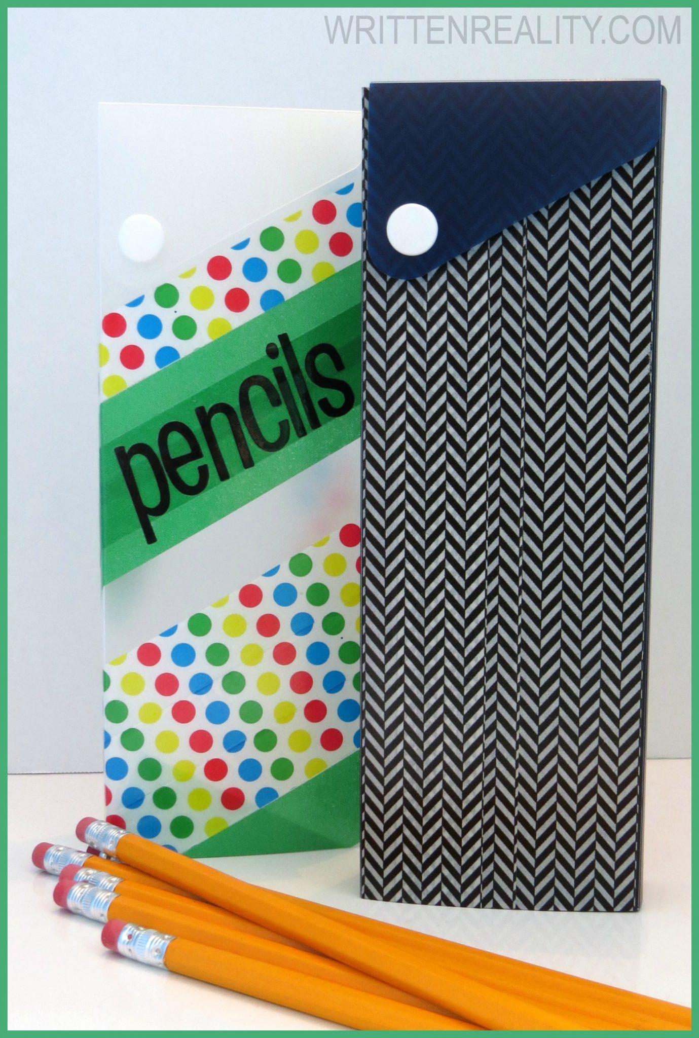 DIY Plastic Pencil Boxes
