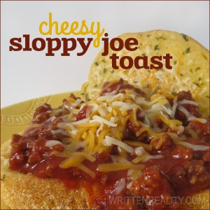 Cheesy Sloppy Joe Toast