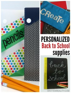 Personalize Your Back to School Supplies
