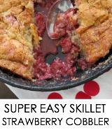 strawberry skillet dessert
