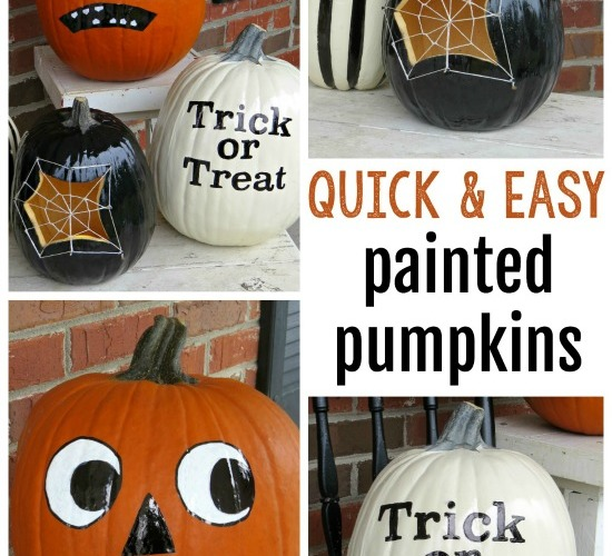 Quick and Easy Painted Pumpkins