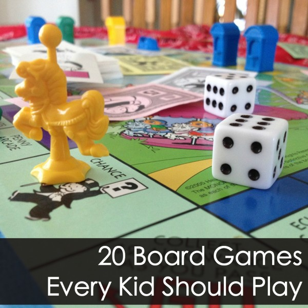 20 Board Games Kids Love