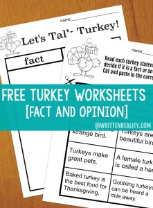 Let's Talk Turkey With These Free Thanksgiving Worksheets