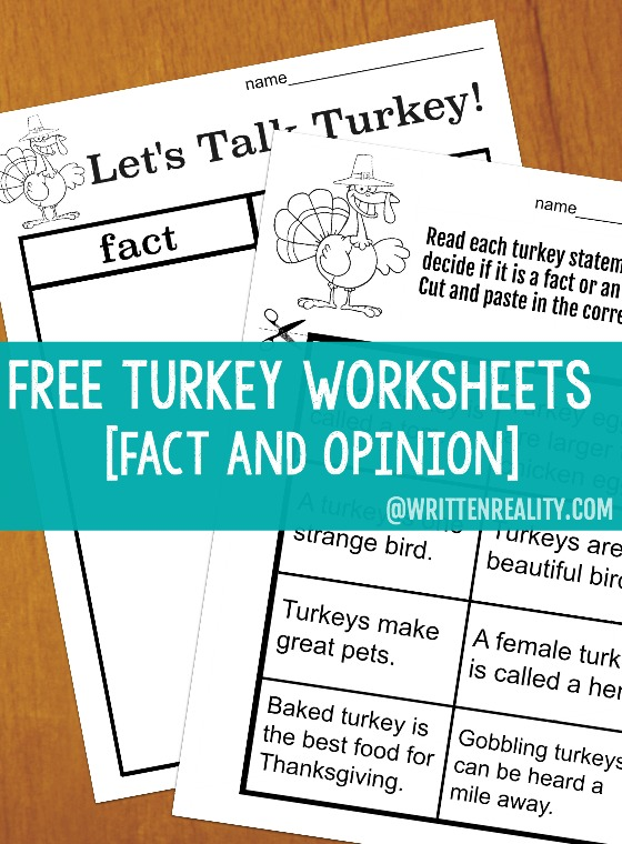 Let\'s Talk Turkey With These Free Thanksgiving Worksheets - Written ...