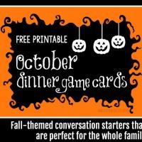 October Dinner Game Cards