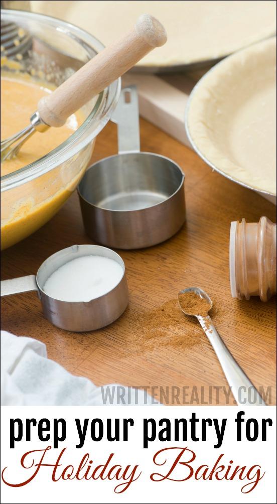 Prep Pantry Holiday Baking