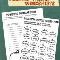 Pumpkin Themed Worksheets