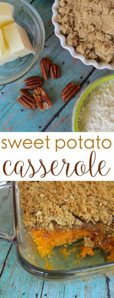 sweet potato casserole recipe pecans