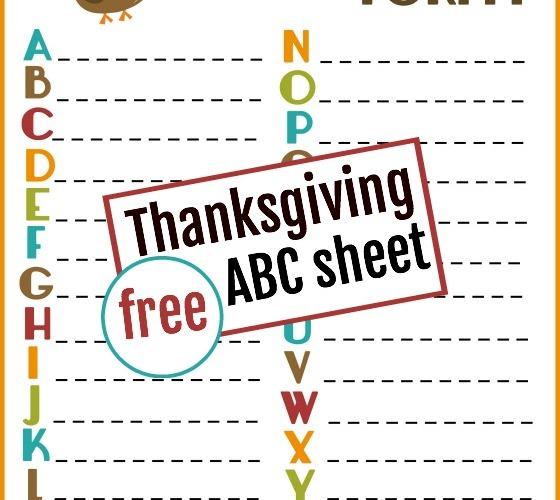 Thankful ABCs Printable