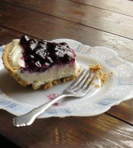 Blueberry Cream Cheese Pie Slice