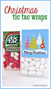 Christmas Tic Tac Wraps