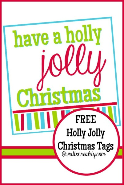 Free Holly Jolly Christmas Tags