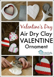 Air Dry Clay Heart Ornaments