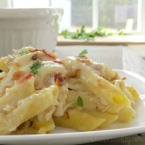 Chicken & Bacon Pasta Bake