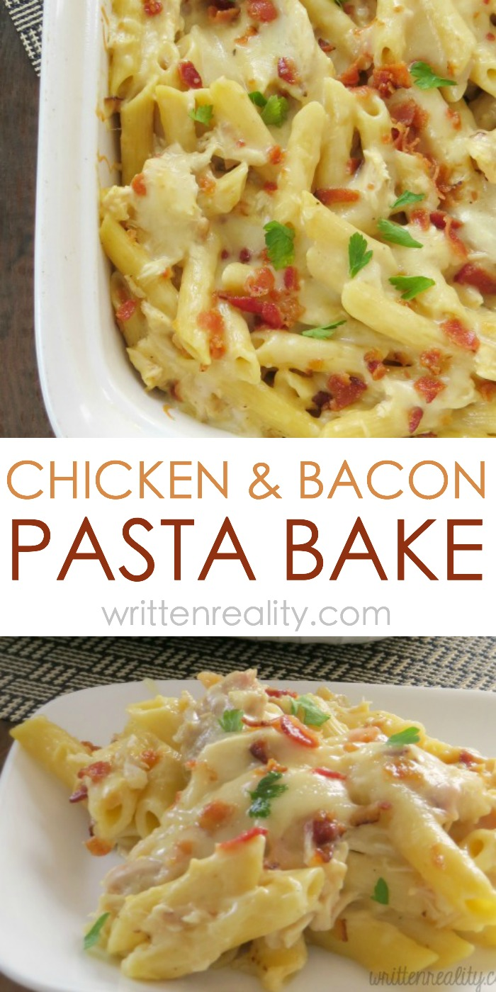 easy chicken pasta bake