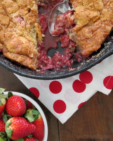 Easy Skillet Strawberry Cobbler