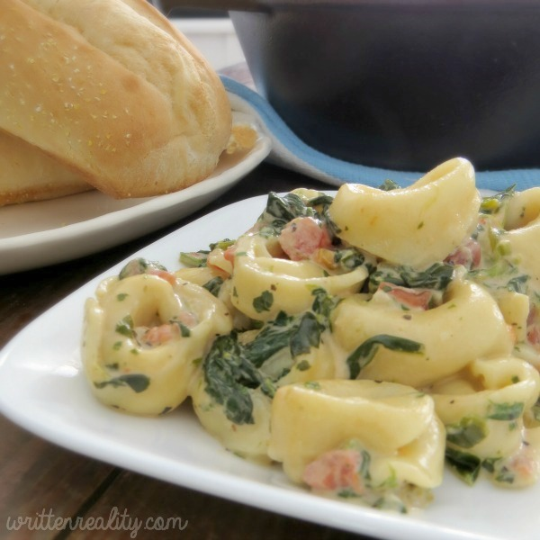 Creamed Spinach Tortellini